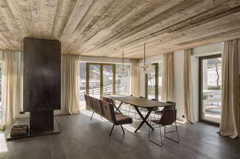 Tiroler Wood Houses Designs dining room in haus s in tirol austria designed by gogl