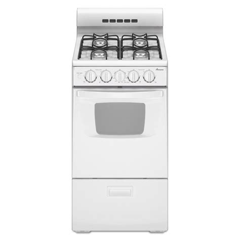 amana 20 in 2 6 cu ft gas range in white shop your