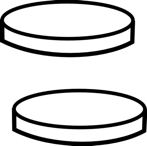 Coin Outline Clip by Two Clear Coins Clip At Clker Vector Clip Royalty Free Domain