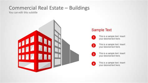 real estate sign template 6062 01 commercial real estate template powerpoint white 7