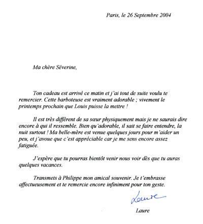 Exemple De Lettre De Départ Remerciement modele lettre de remerciement cadeau naissance