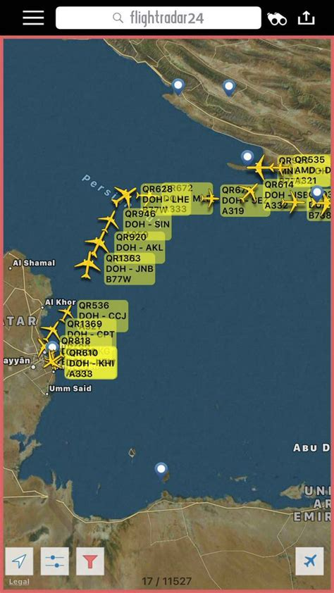 middle east map live qatar airways air traffic appears to be using iranian