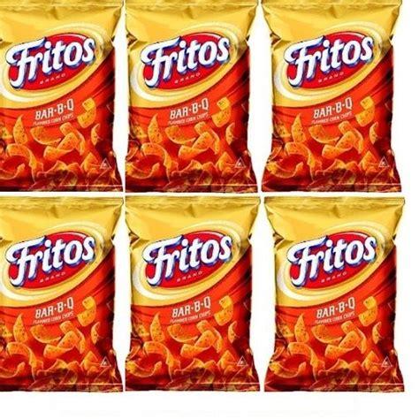 fruit o lay fritos bar b q flavored corn chips 6 pack frito lay