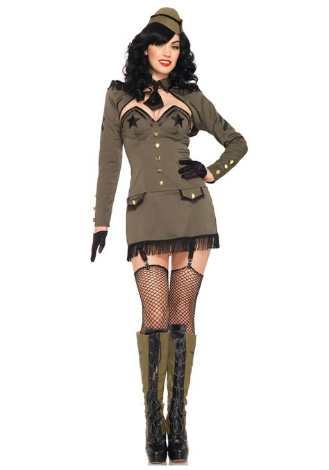 halloween costumes girls pin up army costume
