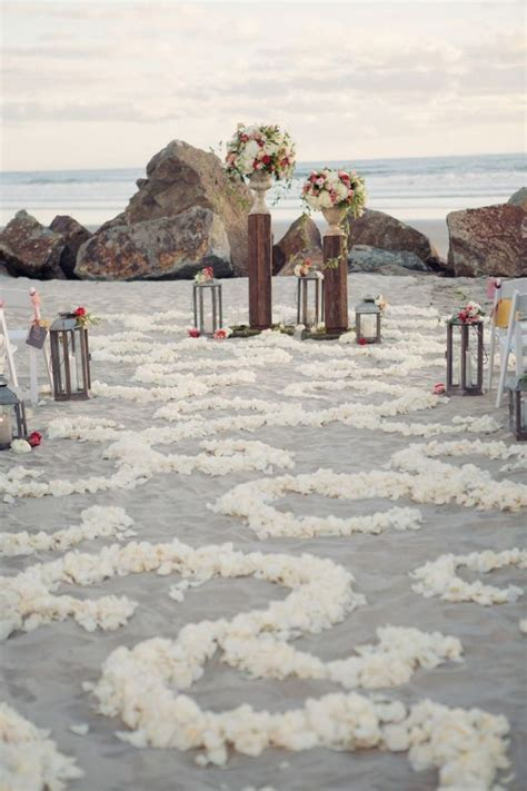 50 Beach Wedding Aisle Decoration Ideas   Beach wedding