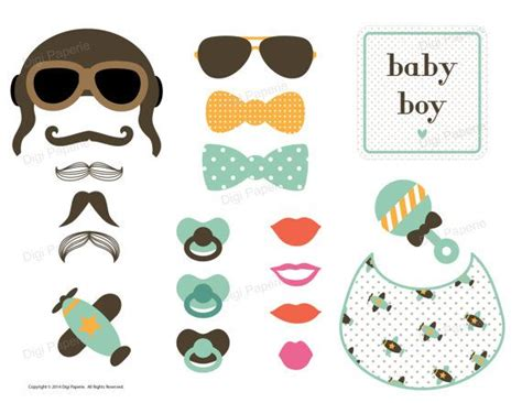 printable cute baby photo booth props multicolor 17 best images about photobooth printables on pinterest