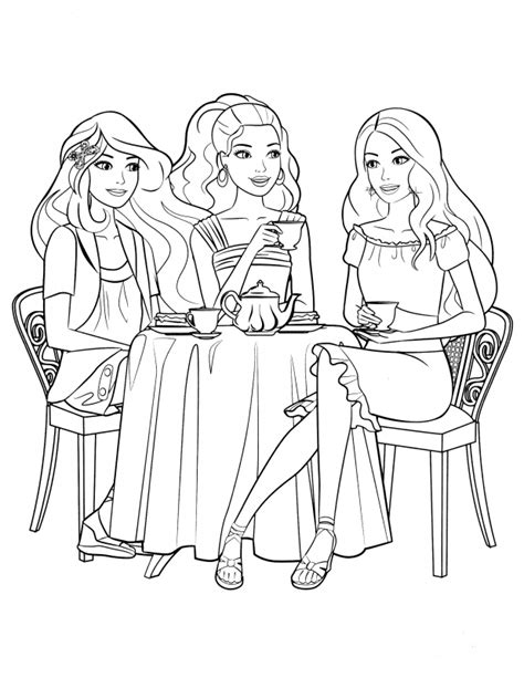 coloring pages of barbie and her friends barbie and friends coloring pages coloring pages kids