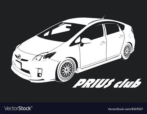 toyota prius logo prius logo royalty free vector image vectorstock