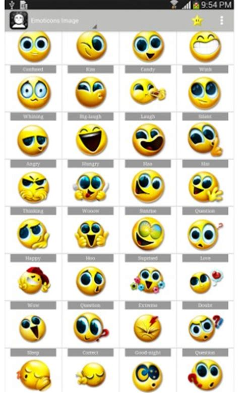 emoticons for android emoticon smiley for chat app for android