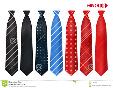 colorful ties set realistic colorful neckties stock vector image