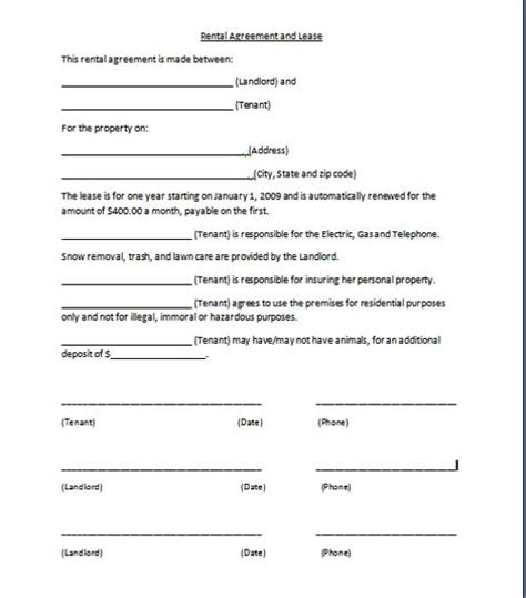 free agreement templates free printable personal contract template form