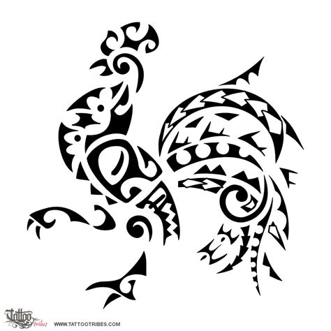 rooster manta ray tiki waves koru mountains spearheads