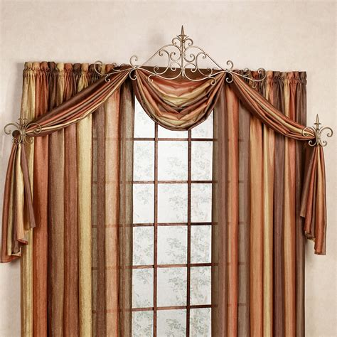 decorative rods for drapes sabelle drapery hardware accent set