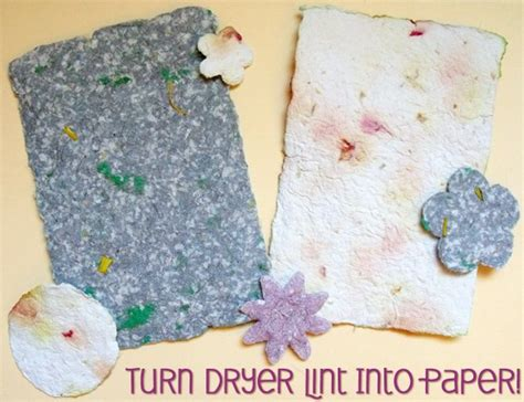 How To Make Paper From Dryer Lint - make paper out of dryer lint lesson plans