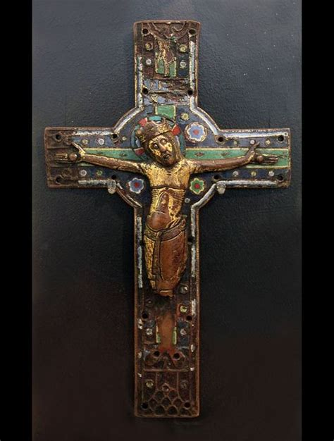 medieval processional crosses for sale enamelled plate from a processional cross limoges early 13th century crosses