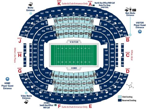 at t stadium map att stadium seating chart seating map cotton bowl