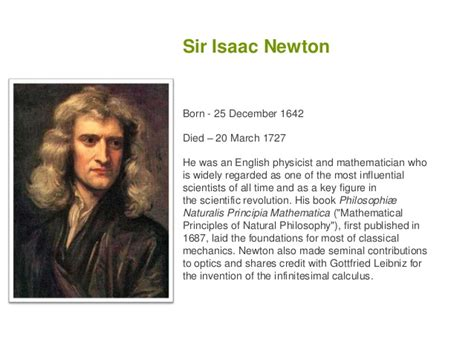 biography of isaac newton mathematician scientists
