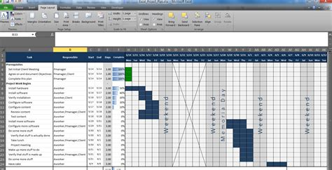 Excel Project Planning Template An Excel Project Planning Spreadsheet Mlynn Org