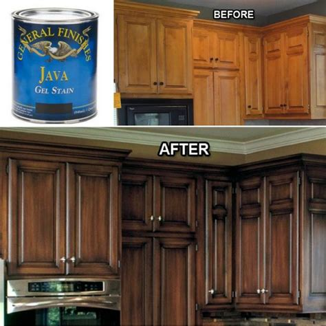 Wood Stain Kitchen Cabinets by Best 25 Staining Wood Cabinets Ideas On Pinterest How