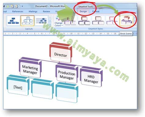 cara membuat struktur organisasi di word 2007 cara membuat struktur organisasi cantik dengan smart art