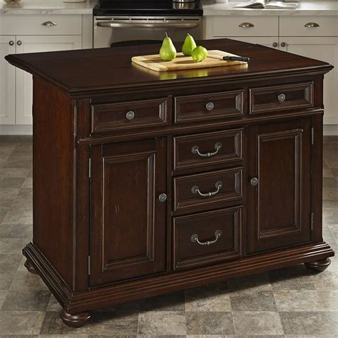 home styles colonial classic kitchen island with wood top
