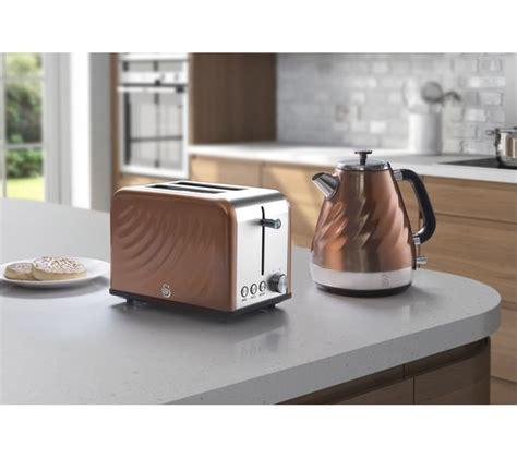copper kitchen appliances buy swan twist jug kettle copper free delivery currys
