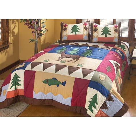 forest bed set whitetail deer forest comforter set 142631 quilts at