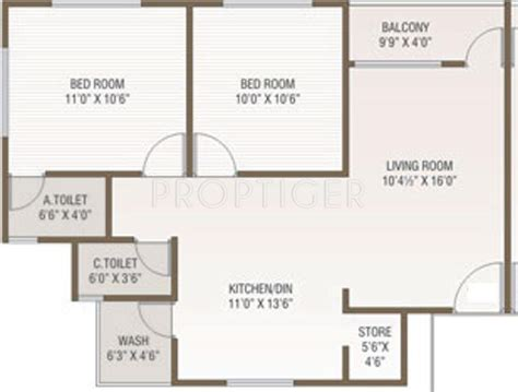 2 bhk plan in 1000 sq ft 1000 sq ft 2 bhk 2t apartment for sale in green