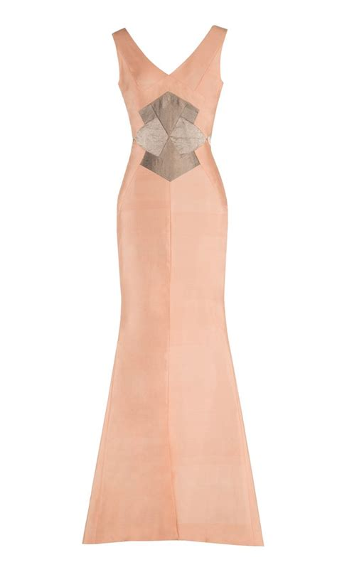 Dress Farah blush pink farah maxi dresses hanieh fashion