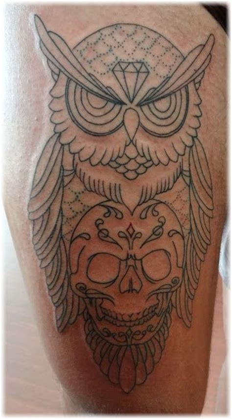 tattoo owl skull owl and skull tattoo designs inked pinterest the two