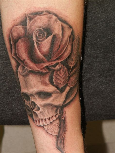 what does a rose and skull tattoo symbolize skull tattoos designs ideas and meaning tattoos for you