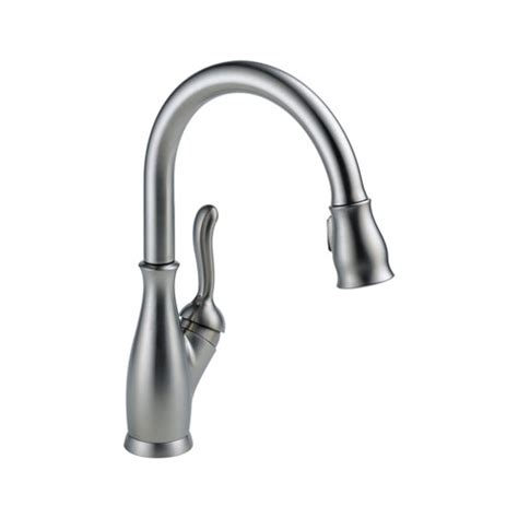 Delta Leland Kitchen Faucet Delta 9178 Ar Dst Leland Single Handle Pull Kitchen Faucet Arctic Stainless Faucetdepot