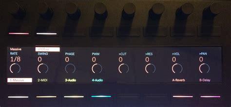 ableton push swing ableton push 2 の使い方 サードパーティ製プラグインのコントロール