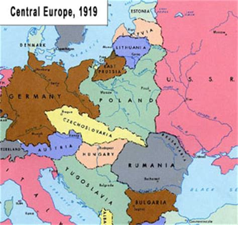 europe map 1919 map europe 1919 after ww1