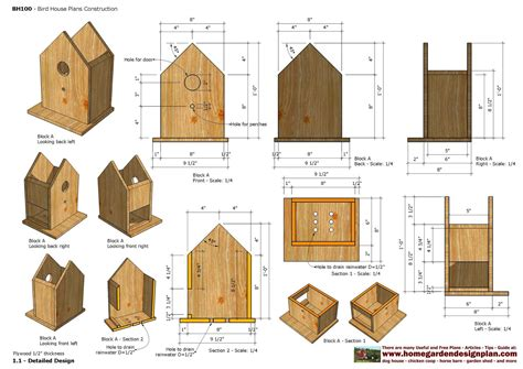 Bird Houses Plans by Home Garden Plans Bh Bird House Plans Construction