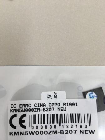 Handphone Oppo N5111 ic emmc oppo r1001 kmn5w000zm b207 spare part hp aksesoris hp alat servis hp sparepart