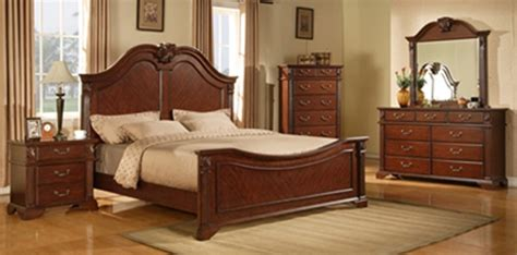 cherry bedroom suite traditions 6 piece bedroom suite in cherry finish by crown