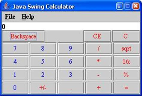 calculator program in java using swing java swing calculator wideskills