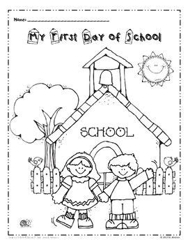 free my first day of school coloring page school
