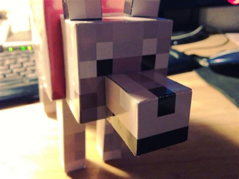 minecraft dogs papercraft minecraft tamed wolf template