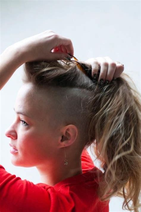 side mohack with real hair 134 best images about long mohawk on pinterest side