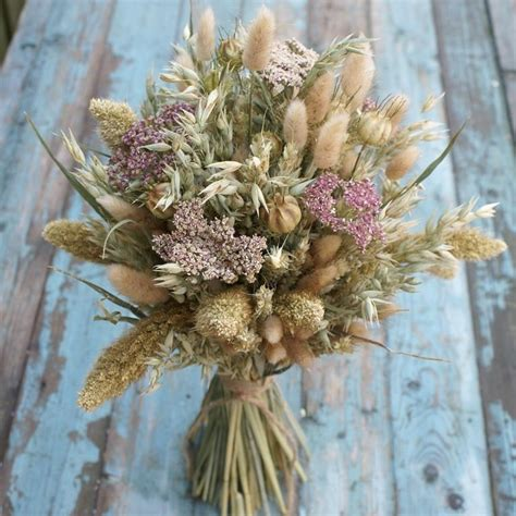 Bloom Box Light Pink Multicolor Preserved Flower Uk 10 X10 Cm rustic pink yarrow bouquet the artisan dried flower company fradswell staffordshire