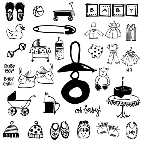 baby doodle font free baby doodles outside the line