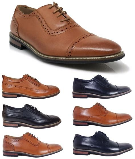H Wood Dress Shoes by Parrazo Dress Shoes Wingtip Oxford Leather Lined Lace Up Black Brown Wood Ebay
