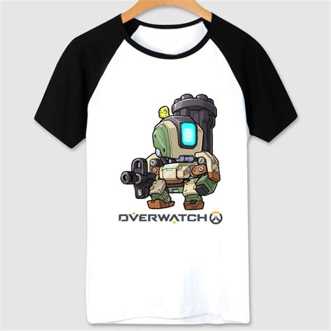 T Shirt Blizzard blizzard overwatch t shirt black bastion shirts