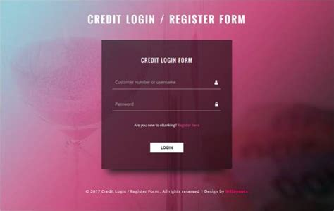 registration form in html template html5 signup registration forms 20 free html css