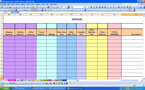 expense and profit spreadsheet laobingkaisuo com
