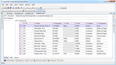 Xml Editor Design View | xml grid cut and paste from excel
