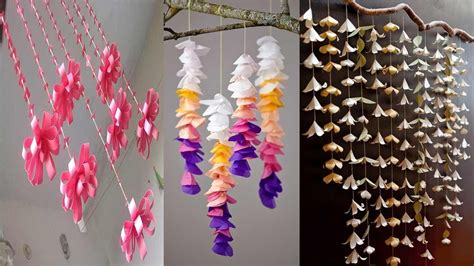 diy recycled decoration idea for hang on ceiling 6 diy room decor wall hanging ideas with paper paper craft wall hanging easy paper crafts