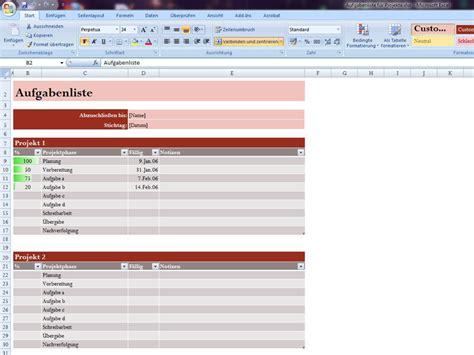 Excel Template Vorlage Projektliste Excelvorlage De